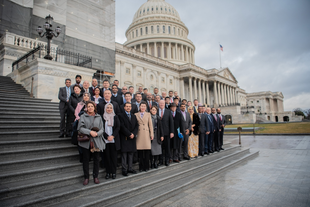 NESA group photo on the Capitol steps on Friday, Feb. 7, 2020