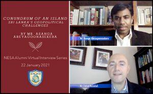 NESA Alumni Virtual Interview Series with Asanga Abeyagoonasekera
